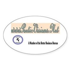 Poetic Visions Oval Decal