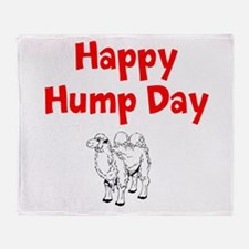 Happy Hump Day Throw Blanket