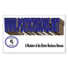 Poetic Visions Rectangle Decal