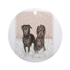 Patterdale Terrier Ornament (Round)
