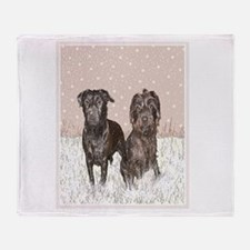 Patterdale Terrier Throw Blanket
