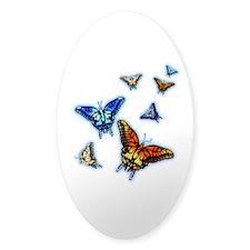 Butterflies In Flight Right (Transparent) Decal