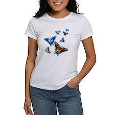 Butterflies in flight right (transparent) T-Shirt