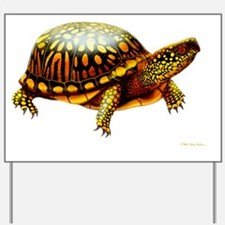 Colorful Eastern Box Turtle Yard Sign