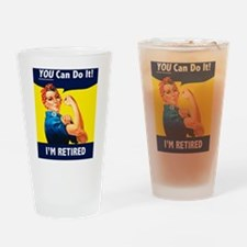 Rosie The Retired Riveter Drinking Glass