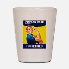 Rosie The Retired Riveter Shot Glass