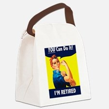 Rosie The Retired Riveter Canvas Lunch Bag