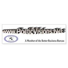 Poetic Visions Bumper Bumper Sticker