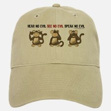 Hear No Evil... Baseball Baseball Cap