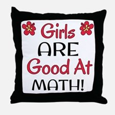 Girls ARE good at math! Throw Pillow