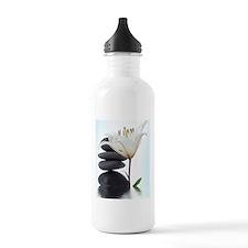 Zen River Rocks/Flower Sports Water Bottle
