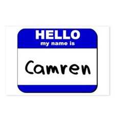 hello my name is camren  Postcards (Package of 8)