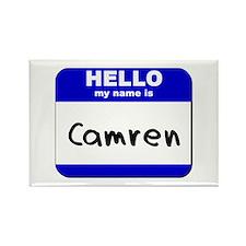 hello my name is camren Rectangle Magnet
