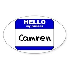 hello my name is camren Oval Decal