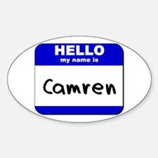 hello my name is camren Oval Decal
