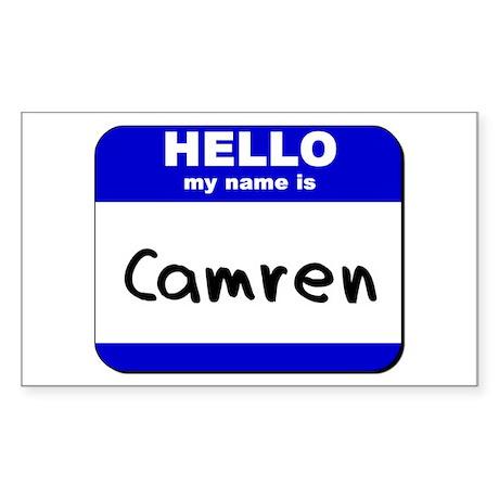 hello my name is camren Rectangle Sticker