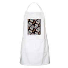 Day of The Dead Sugar Skull  Black Apron