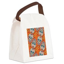 Day of The Dead Sugar Skull  Oran Canvas Lunch Bag