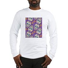 Day of The Dead Sugar Skull Pu Long Sleeve T-Shirt