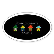 ForeclosureGate Gazette Ball Cap Decal