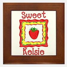 Sweet Kelsie Framed Tile
