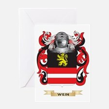 Wein Family Crest (Coat of Arms) Greeting Card