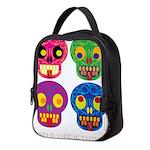 Smile life is short - Skulls Neoprene Lunch Bag