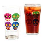 Smile life is short - Skulls Drinking Glass