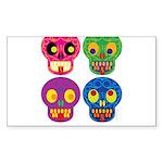 Smile life is short - Skulls Sticker