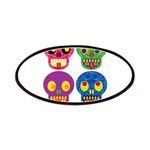 Smile life is short - Skulls Patches