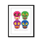 Smile life is short - Skulls Framed Panel Print