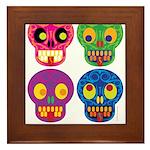 Smile life is short - Skulls Framed Tile