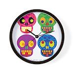 Smile life is short - Skulls Wall Clock
