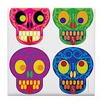 Smile life is short - Skulls Tile Coaster