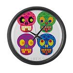 Smile life is short - Skulls Large Wall Clock