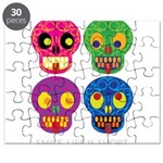 Smile life is short - Skulls Puzzle