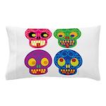 Smile life is short - Skulls Pillow Case