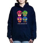 Smile life is short - Skulls Hooded Sweatshirt