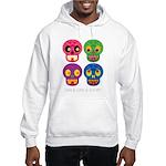Smile life is short - Skulls Hoodie Sweatshirt