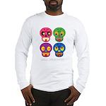 Smile life is short - Skulls Long Sleeve T-Shirt