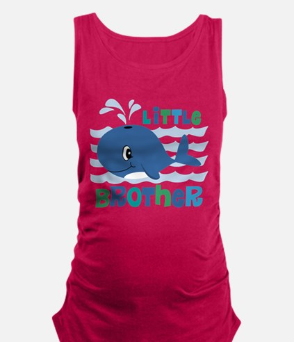 Whale Little Brother Maternity Tank Top
