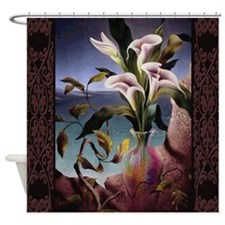 Flora On Cliff Shower Curtain