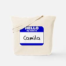 hello my name is camila Tote Bag