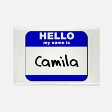 hello my name is camila Rectangle Magnet