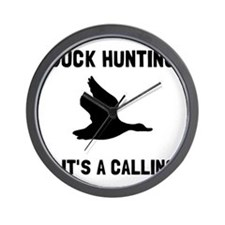 Duck Hunting Calling Wall Clock