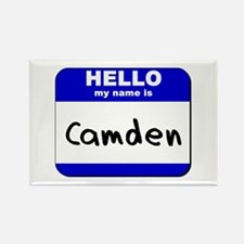 hello my name is camden Rectangle Magnet