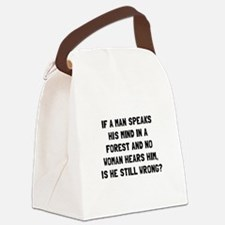 Man Forest Canvas Lunch Bag