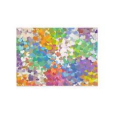 Pastel Confetti Hearts 5'x7'Area Rug