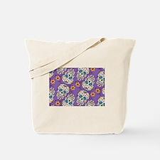 Day of The Dead Sugar Skull  Purple Tote Bag