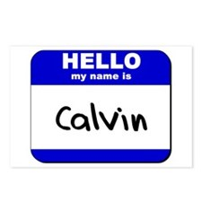 hello my name is calvin  Postcards (Package of 8)